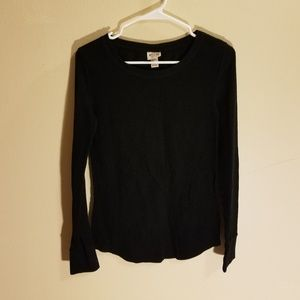Mossimo Supply Co long sleeve black top